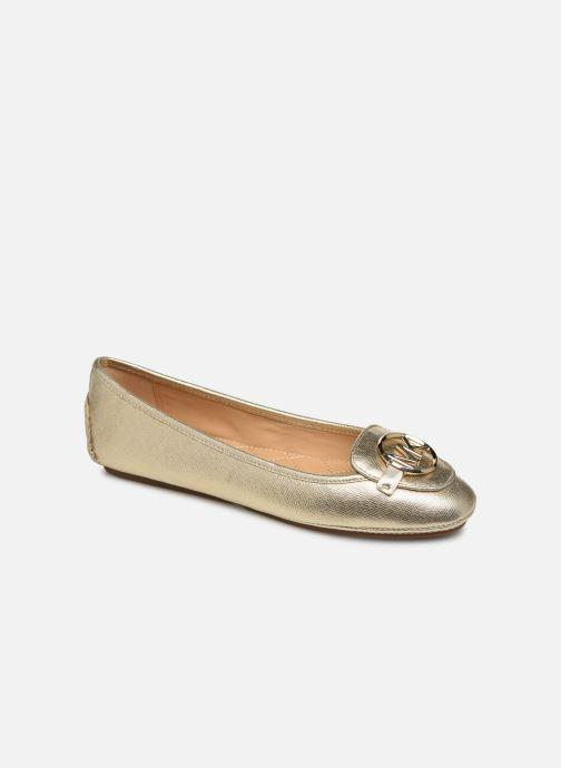 Bailarinas Michael Michael Kors Lillie Moc Oro y bronce vista de detalle / par