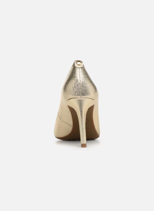 Zapatos de tacón Michael Michael Kors Dorothy Flex Pump Oro y bronce vista lateral derecha