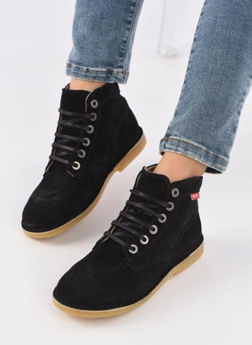 Bottines et boots Kickers ORILEGEND F Noir vue bas / vue portée sac