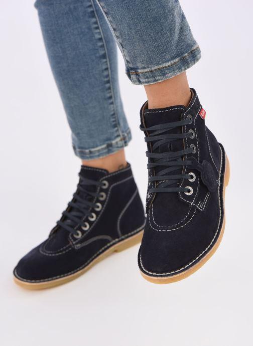 Bottines et boots Kickers ORILEGEND F Bleu vue bas / vue portée sac