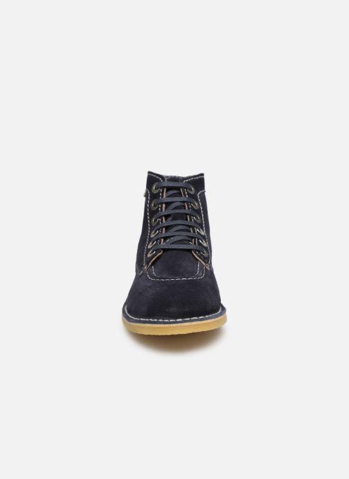 Bottines et boots Kickers ORILEGEND F Bleu vue portées chaussures