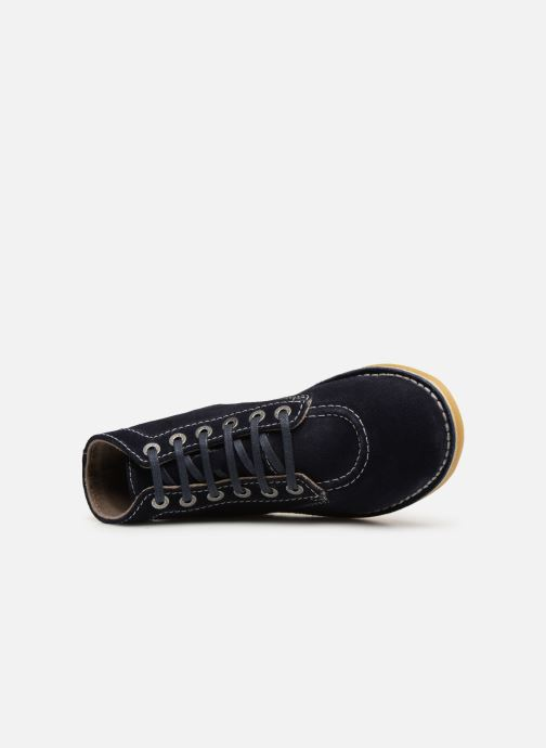 Bottines et boots Kickers ORILEGEND F Bleu vue gauche