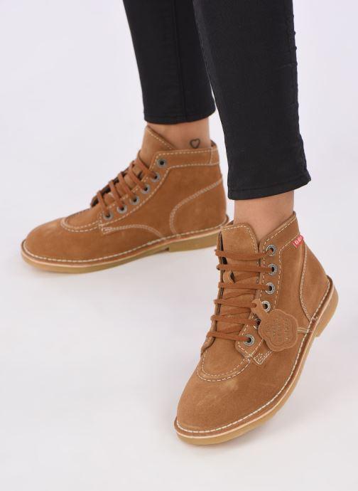 Stiefeletten & Boots Kickers ORILEGEND F braun ansicht von unten / tasche getragen
