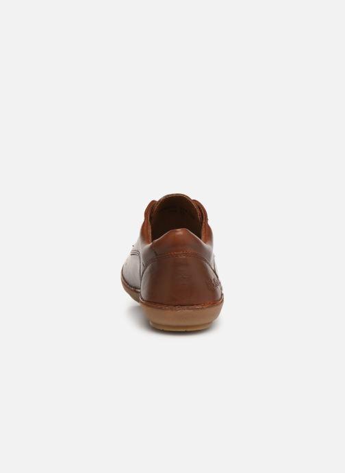 Snörade skor Kickers FOWFOPERF Brun Bild från höger sidan