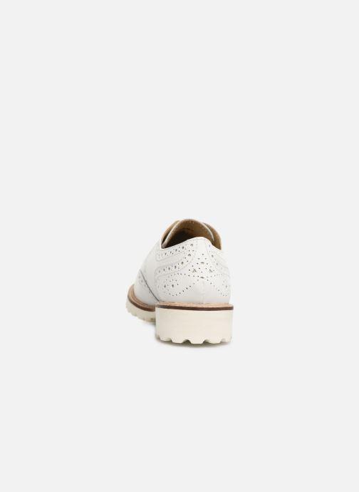 Zapatos con cordones Kickers ROVENTRY Blanco vista lateral derecha
