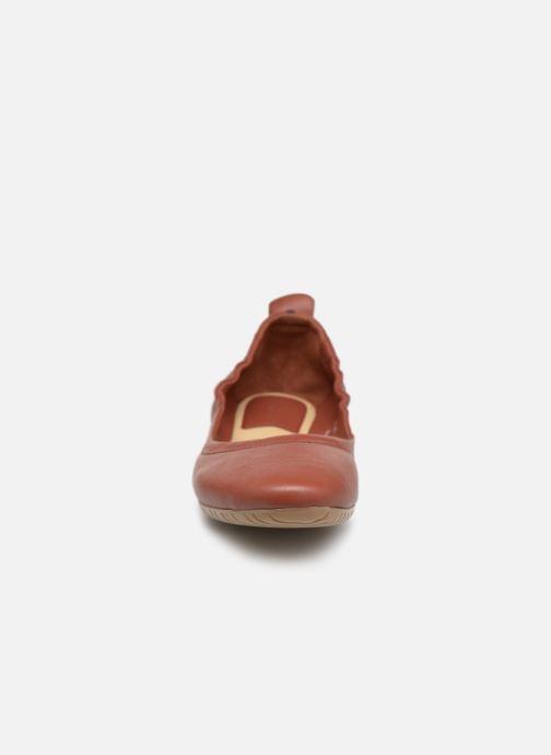 Ballerinas Kickers RABAT rot schuhe getragen