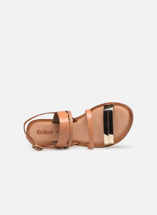 Sandales et nu-pieds Kickers ETHAL Marron vue gauche