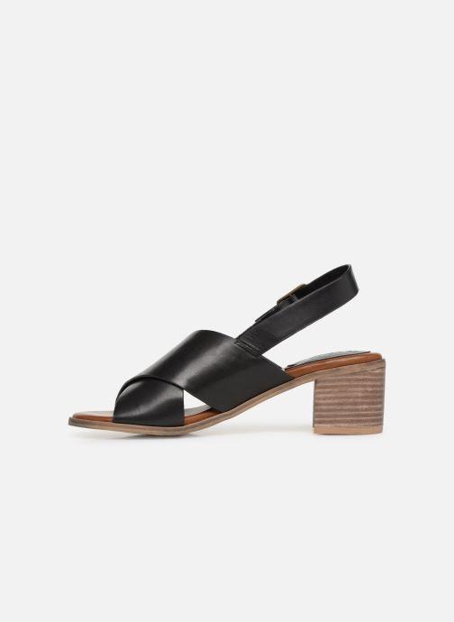Sandales et nu-pieds Kickers VICTORIANE Noir vue face