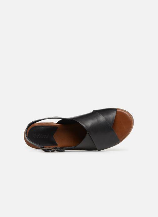 Sandalen Kickers VICTORIANE schwarz ansicht von links