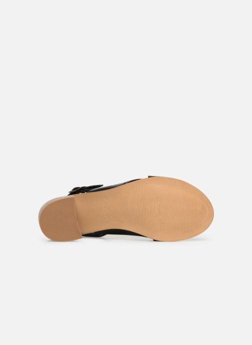 Sandalen Kickers VICTORIANE schwarz ansicht von oben