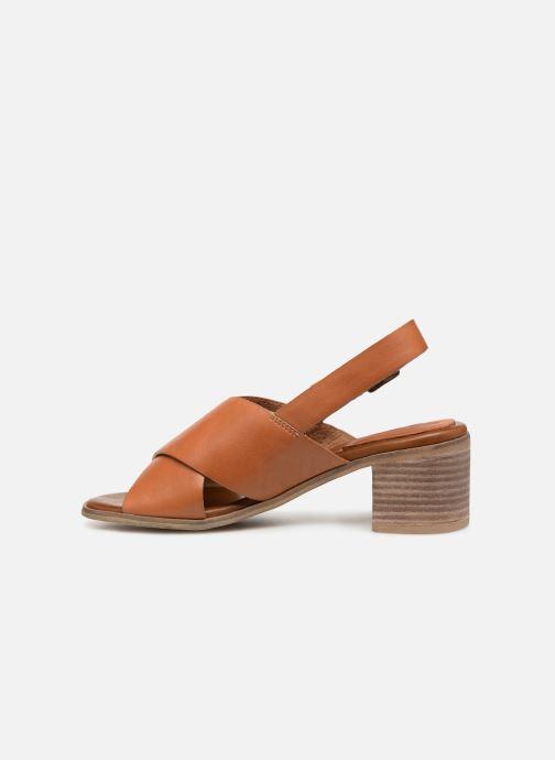 Sandali e scarpe aperte Kickers VICTORIANE Marrone immagine frontale