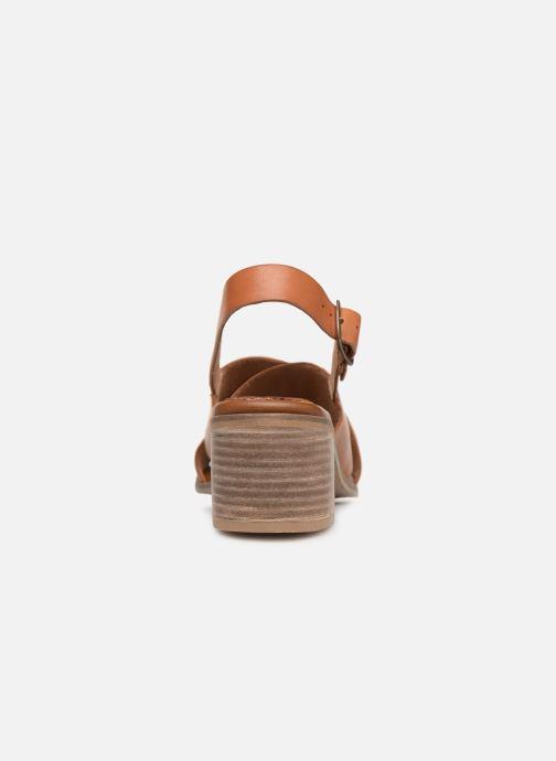Sandales et nu-pieds Kickers VICTORIANE Marron vue droite