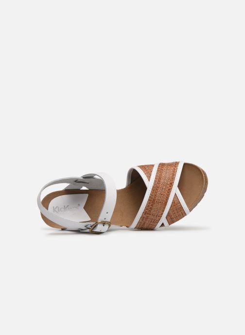 Sandales et nu-pieds Kickers SALAMBO Blanc vue gauche