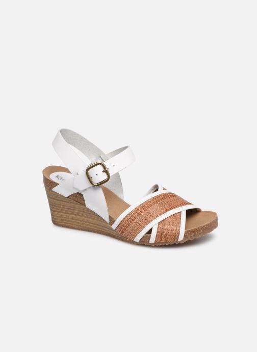 Sandales et nu-pieds Kickers SALAMBO Blanc vue détail/paire