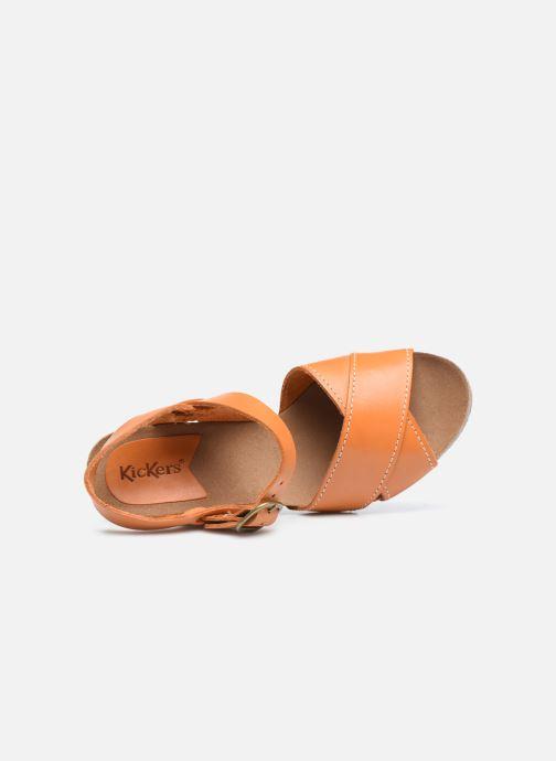 Sandales et nu-pieds Kickers SALAMBO Orange vue gauche