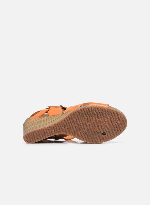 Sandales et nu-pieds Kickers SALAMBO Orange vue haut