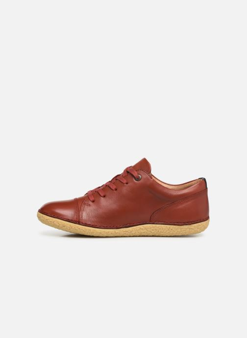 Chaussure Femme Grande Remise Kickers HONY Rouge Chaussures à lacets 357194