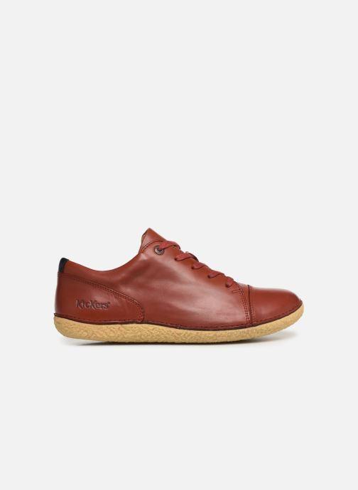 Zapatos con cordones Kickers HONY Rojo vistra trasera