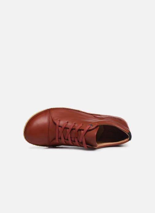 Zapatos con cordones Kickers HONY Rojo vista lateral izquierda