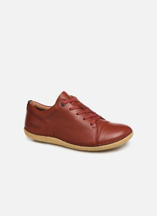 Zapatos con cordones Kickers HONY Rojo vista de detalle / par