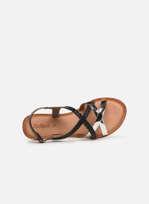 Sandalen Kickers ETHY schwarz ansicht von links
