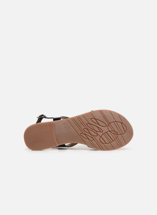 Sandales et nu-pieds Kickers ETHY Noir vue haut
