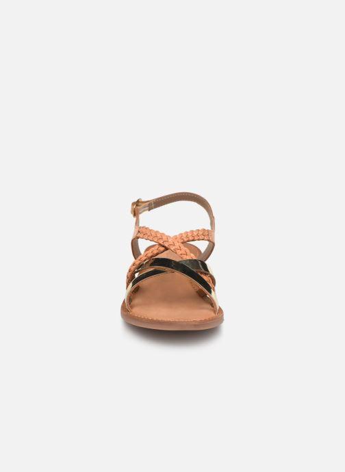 Sandales et nu-pieds Kickers ETHY Marron vue portées chaussures