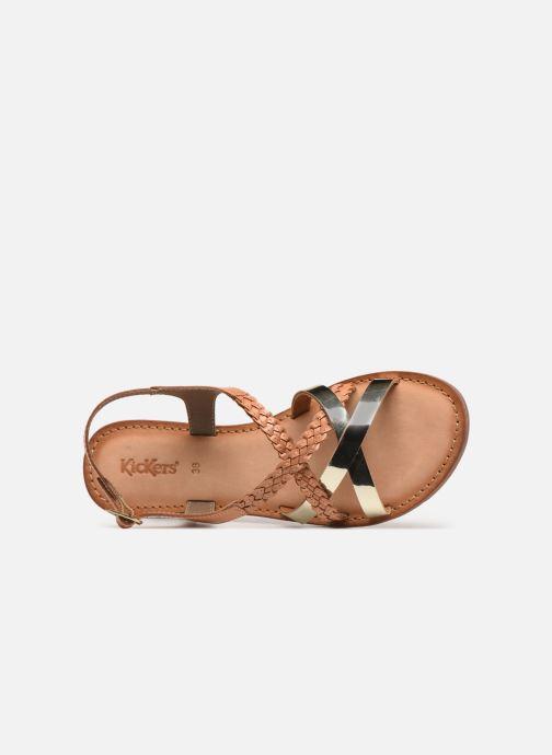 Sandales et nu-pieds Kickers ETHY Marron vue gauche
