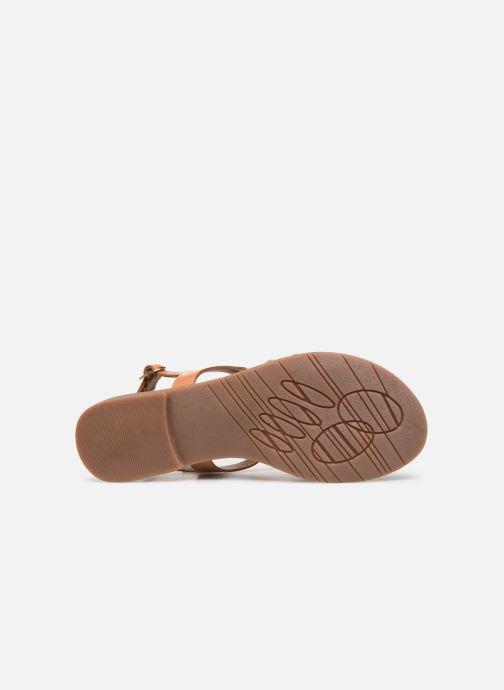 Sandales et nu-pieds Kickers ETHY Marron vue haut