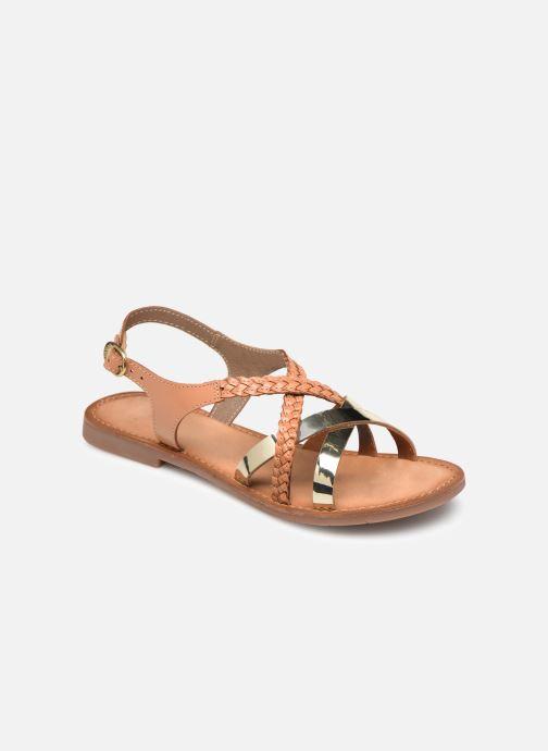 Sandales et nu-pieds Kickers ETHY Marron vue détail/paire
