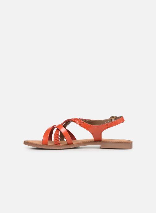 Sandales et nu-pieds Kickers ETHY Orange vue face