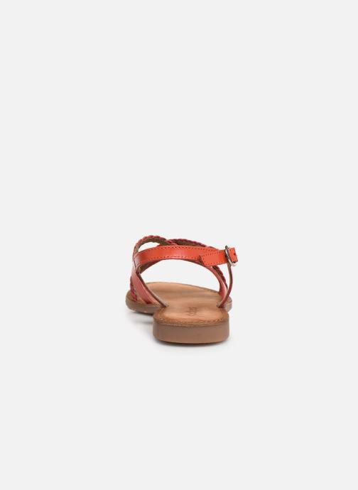 Sandales et nu-pieds Kickers ETHY Orange vue droite