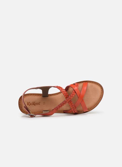 Sandales et nu-pieds Kickers ETHY Orange vue gauche