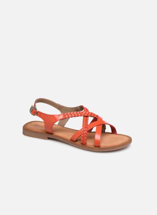 Sandales et nu-pieds Kickers ETHY Orange vue détail/paire