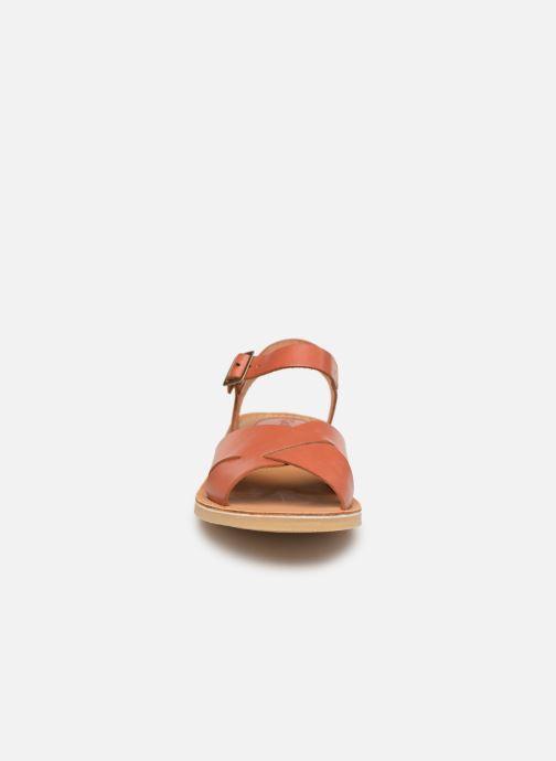 Sandales et nu-pieds Kickers TILLY Marron vue portées chaussures