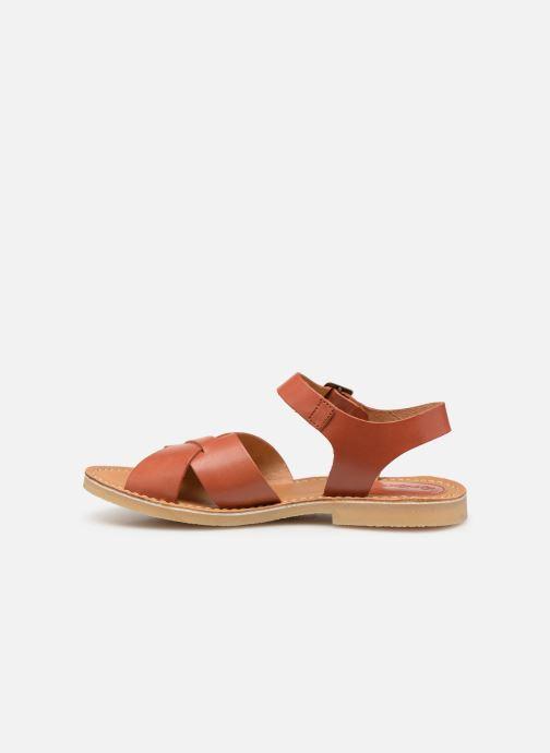 Sandales et nu-pieds Kickers TILLY Marron vue face
