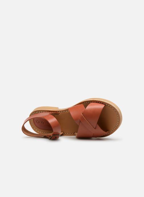 Sandales et nu-pieds Kickers TILLY Marron vue gauche