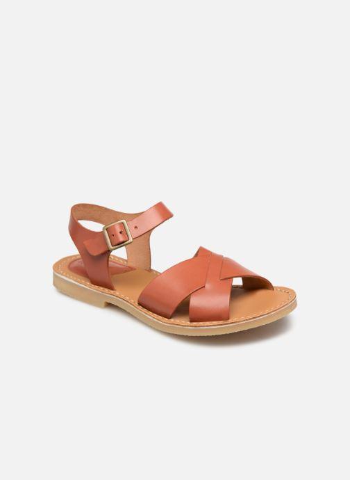 Sandales et nu-pieds Kickers TILLY Marron vue détail/paire