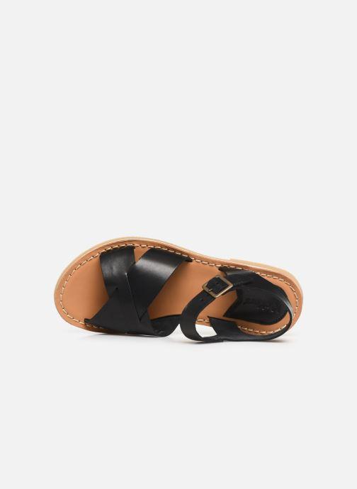 Sandales et nu-pieds Kickers TILLY Noir vue gauche