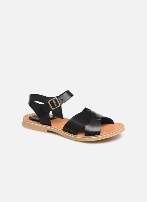 Sandales et nu-pieds Kickers TILLY Noir vue détail/paire