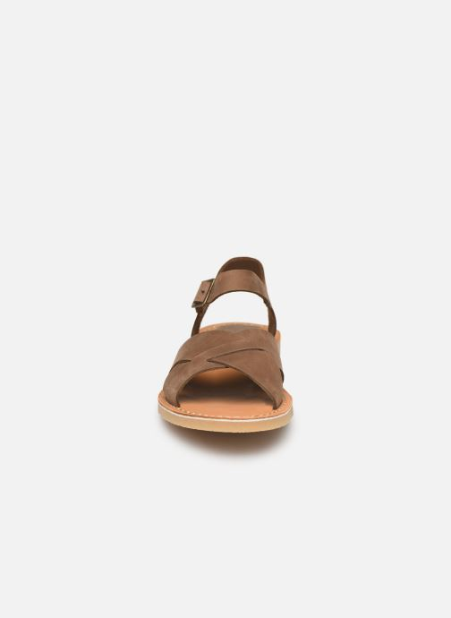 Sandales et nu-pieds Kickers TILLY Vert vue portées chaussures