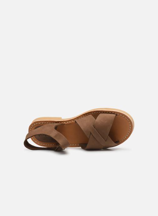 Sandales et nu-pieds Kickers TILLY Vert vue gauche