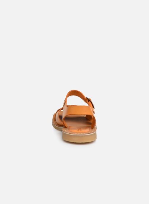 Sandalias Kickers TILLY Amarillo vista lateral derecha