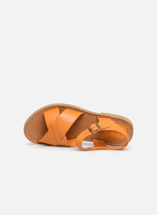 Sandalias Kickers TILLY Amarillo vista lateral izquierda
