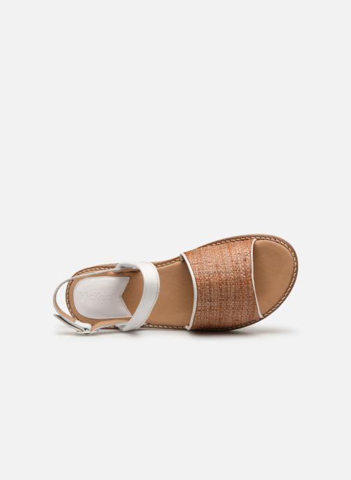 Sandali e scarpe aperte Kickers VICTORIETTE Bianco immagine sinistra