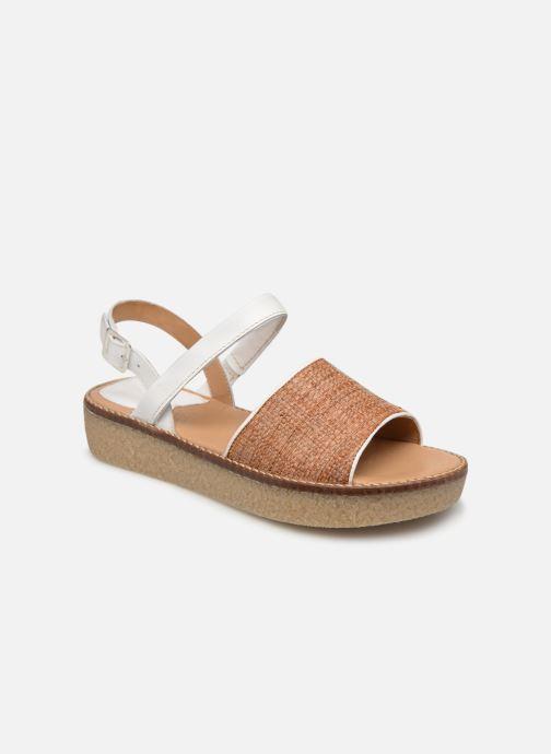 Sandales et nu-pieds Kickers VICTORIETTE Blanc vue détail/paire