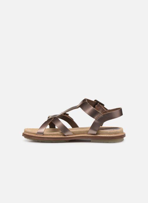 Sandales et nu-pieds Kickers MEENWICH Or et bronze vue face