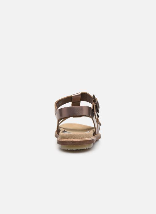 Sandaler Kickers MEENWICH Guld og bronze Se fra højre