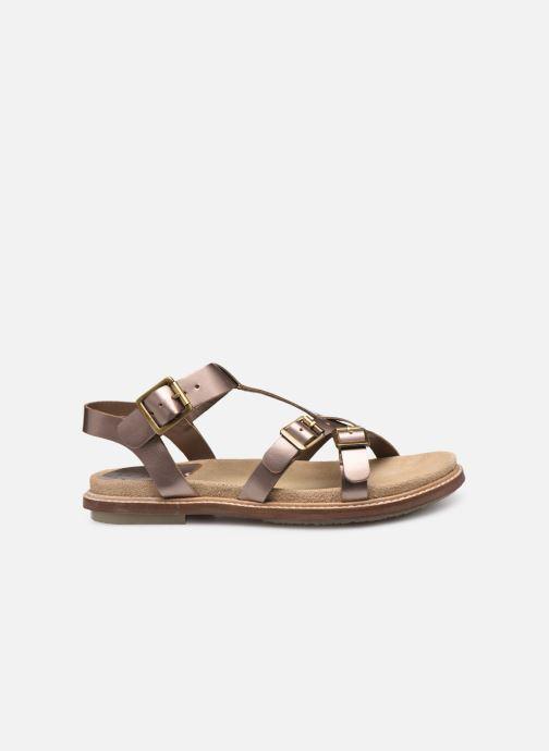Sandales et nu-pieds Kickers MEENWICH Or et bronze vue derrière