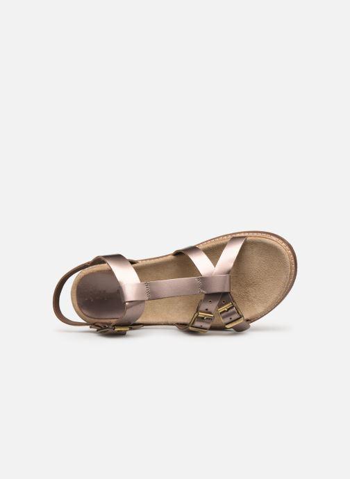 Sandales et nu-pieds Kickers MEENWICH Or et bronze vue gauche